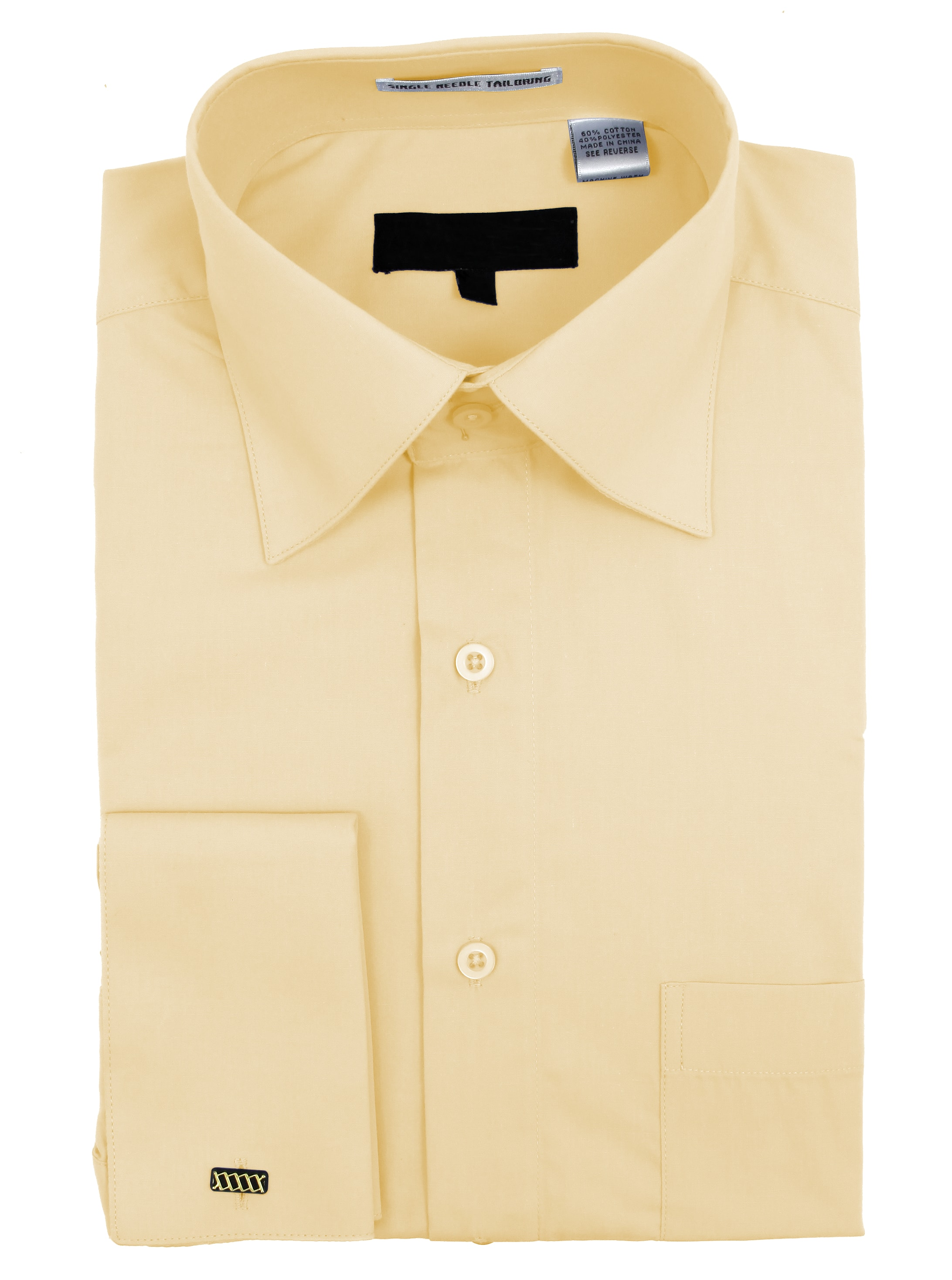 Men/'s Wrinkle Free Cotton Blend French Cuff Dress Shirts