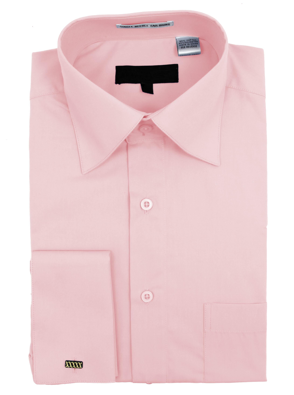 Men/'s Wrinkle Free Cotton Blend French Cuff Dress Shirts