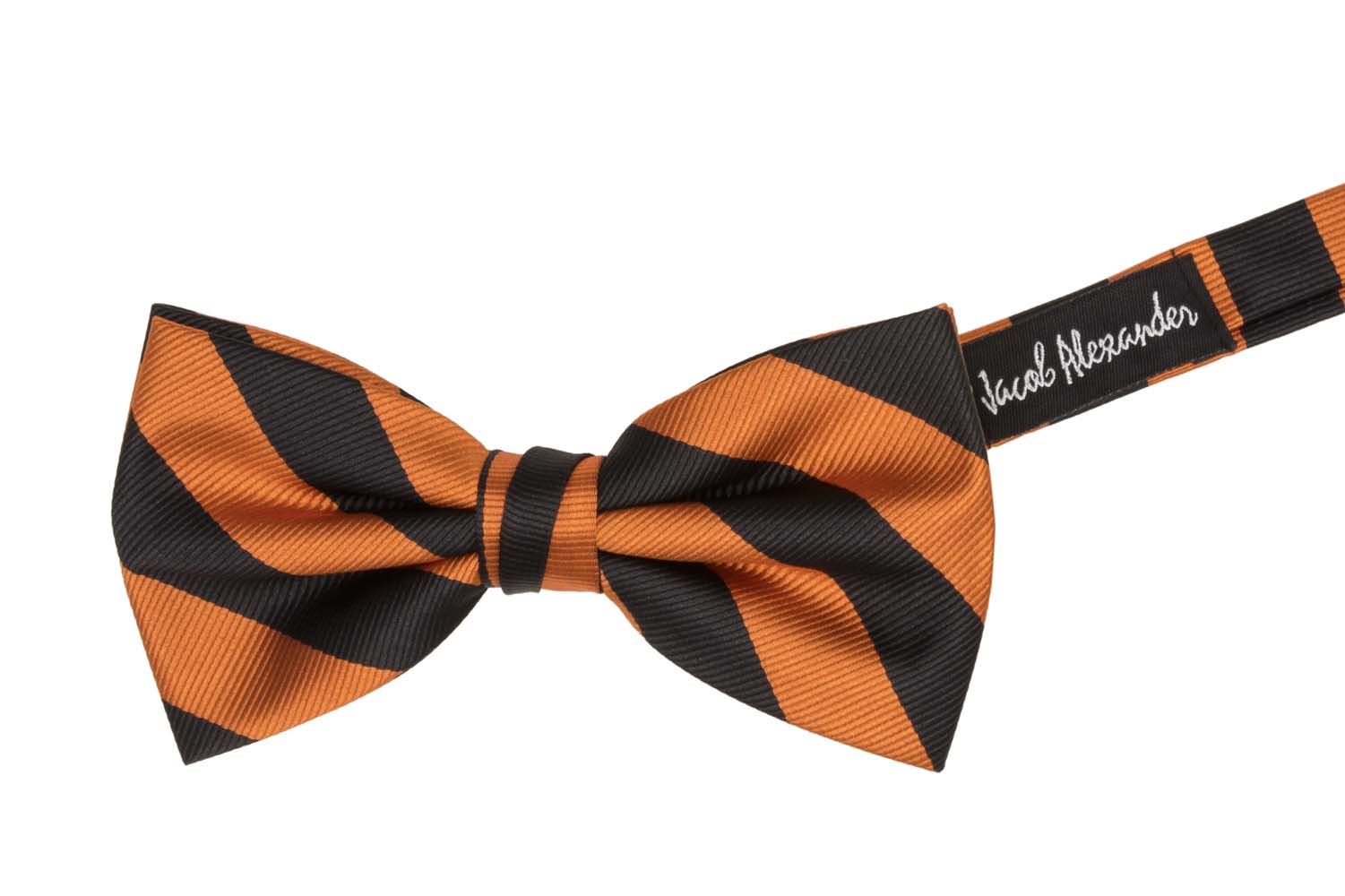Jacob-Alexander-Stripe-Woven-Men-039-s-College-Striped-Pretied-Bowtie thumbnail 10