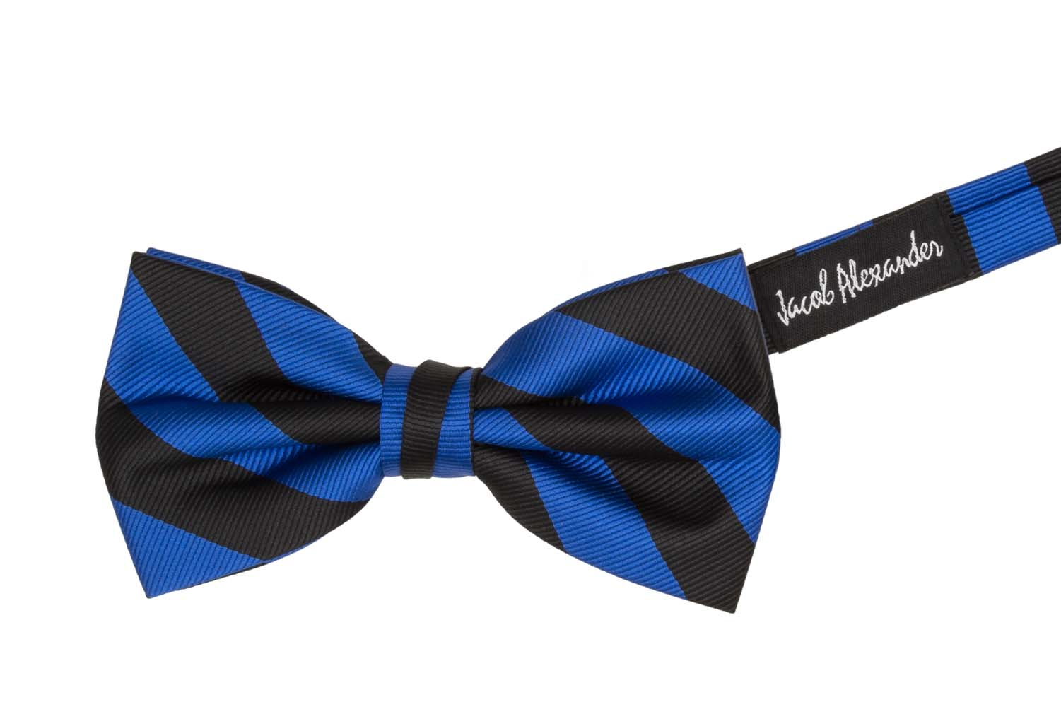 Jacob-Alexander-Stripe-Woven-Men-039-s-College-Striped-Pretied-Bowtie thumbnail 22