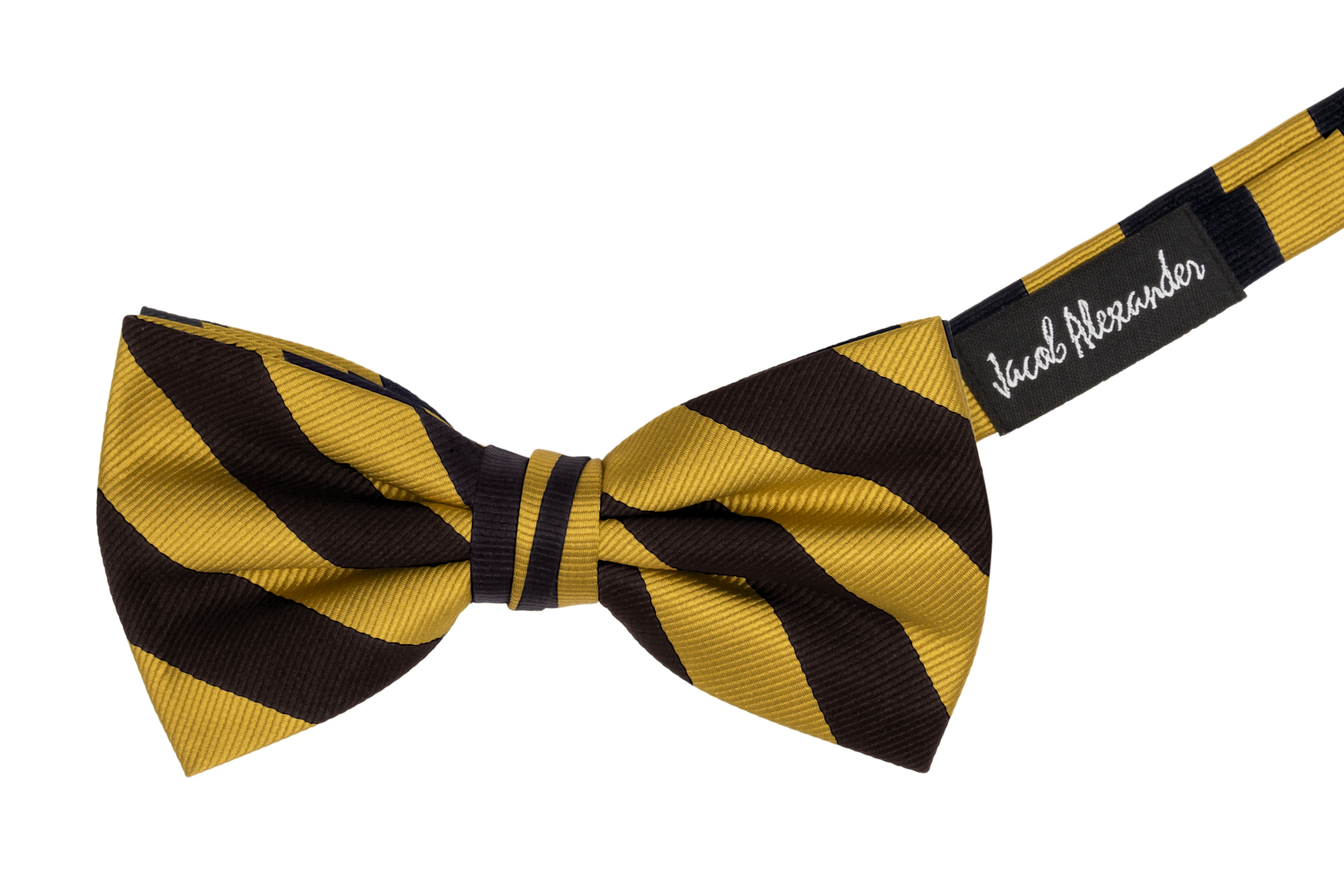 Jacob-Alexander-Stripe-Woven-Men-039-s-College-Striped-Pretied-Bowtie thumbnail 4