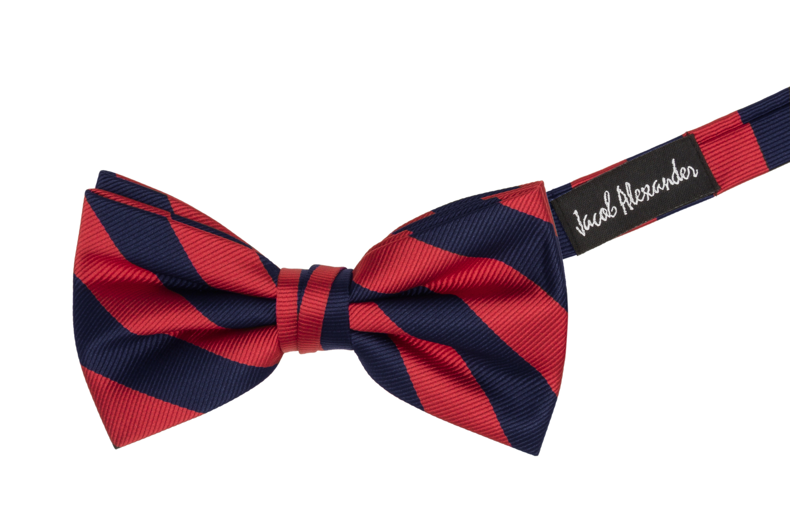 Jacob-Alexander-Stripe-Woven-Men-039-s-College-Striped-Pretied-Bowtie thumbnail 20
