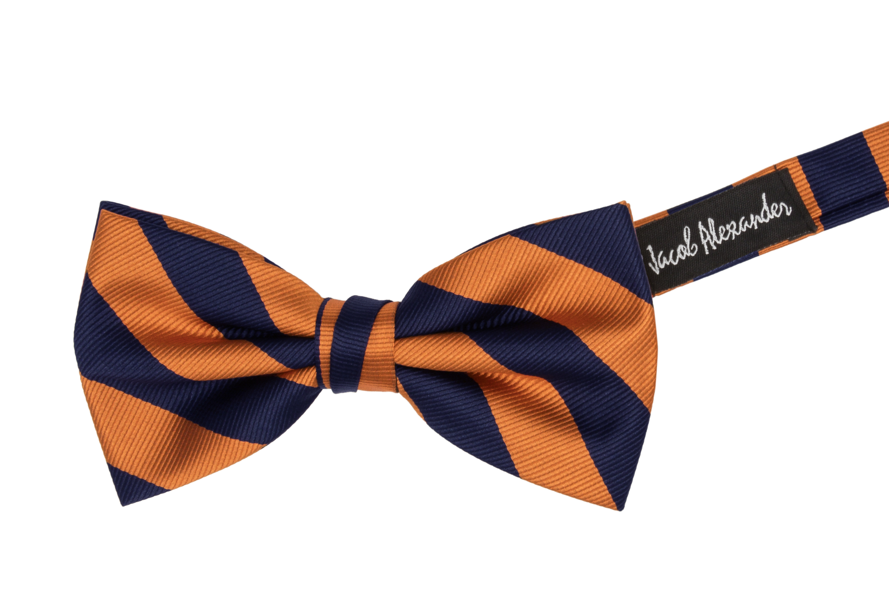 Jacob-Alexander-Stripe-Woven-Men-039-s-College-Striped-Pretied-Bowtie thumbnail 12