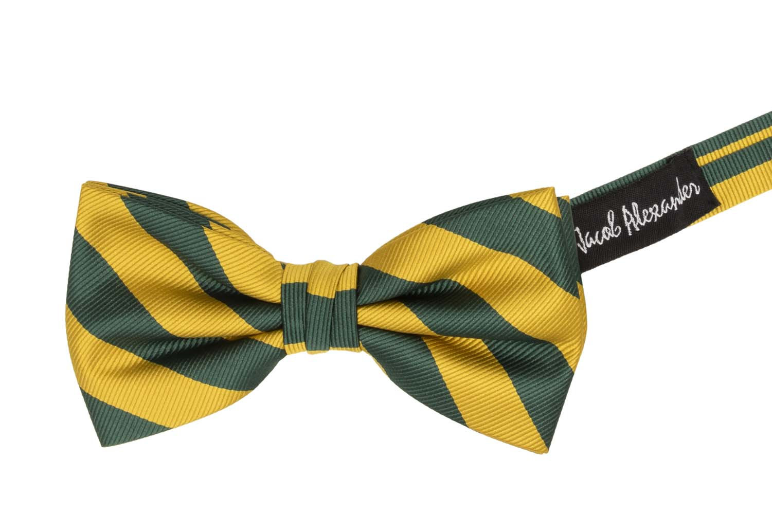Jacob-Alexander-Stripe-Woven-Men-039-s-College-Striped-Pretied-Bowtie thumbnail 8