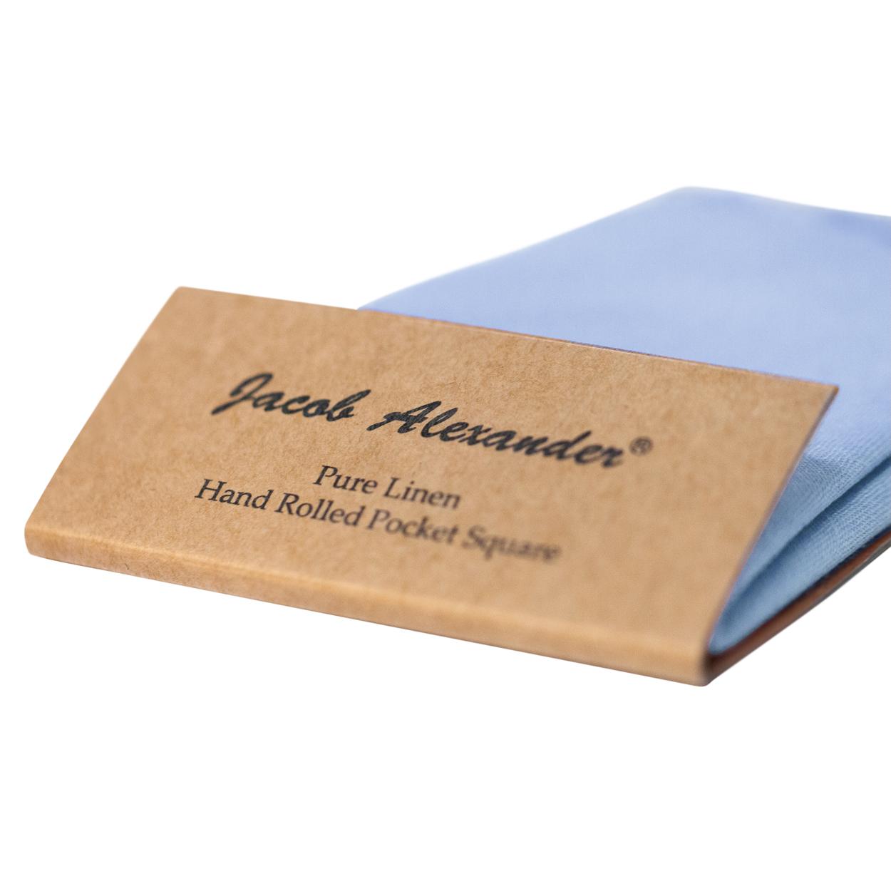 Jacob-Alexander-Linen-Handrolled-15-034-x-15-034-Pocket-Square-Hanky thumbnail 32