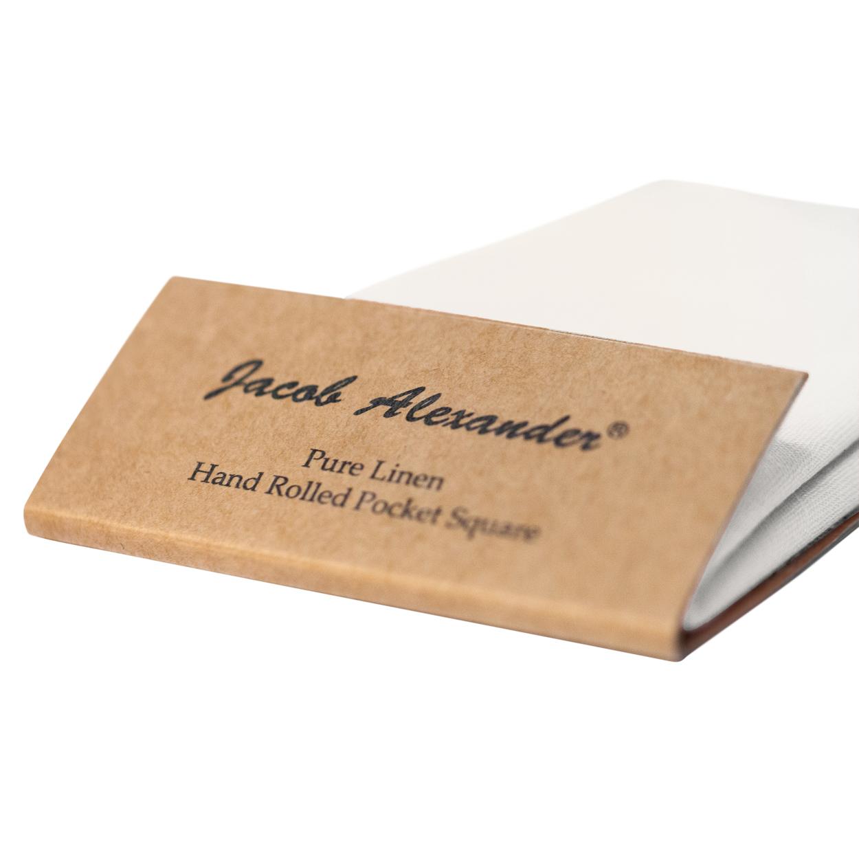 Jacob-Alexander-Linen-Handrolled-15-034-x-15-034-Pocket-Square-Hanky thumbnail 40