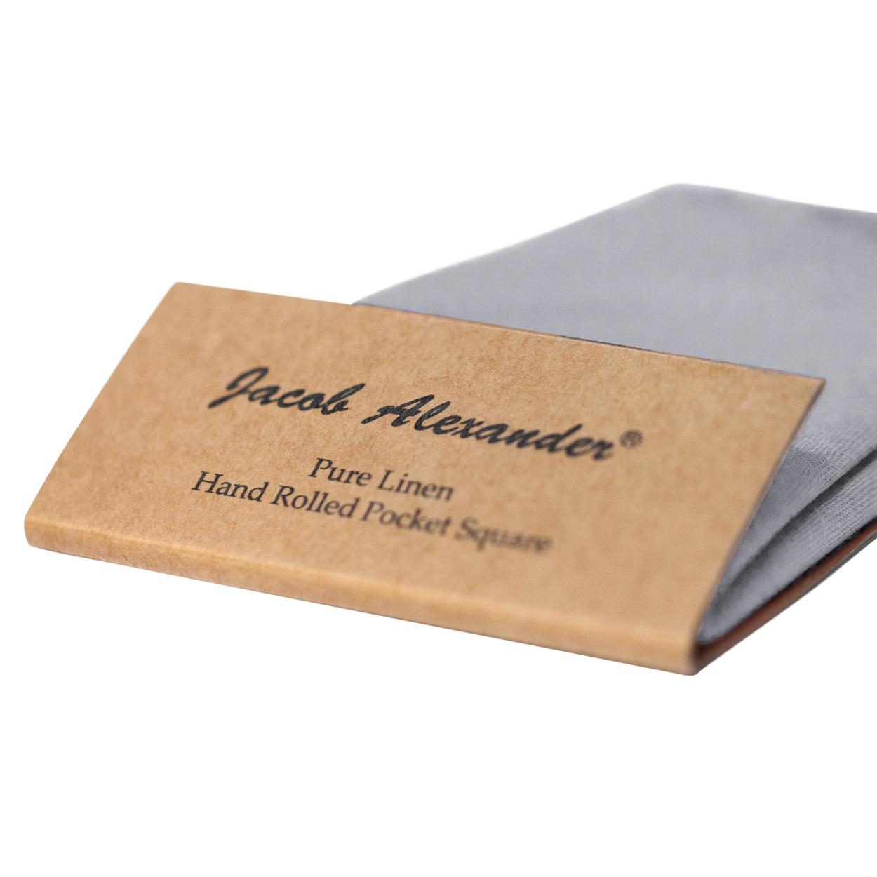 Jacob-Alexander-Linen-Handrolled-15-034-x-15-034-Pocket-Square-Hanky thumbnail 28