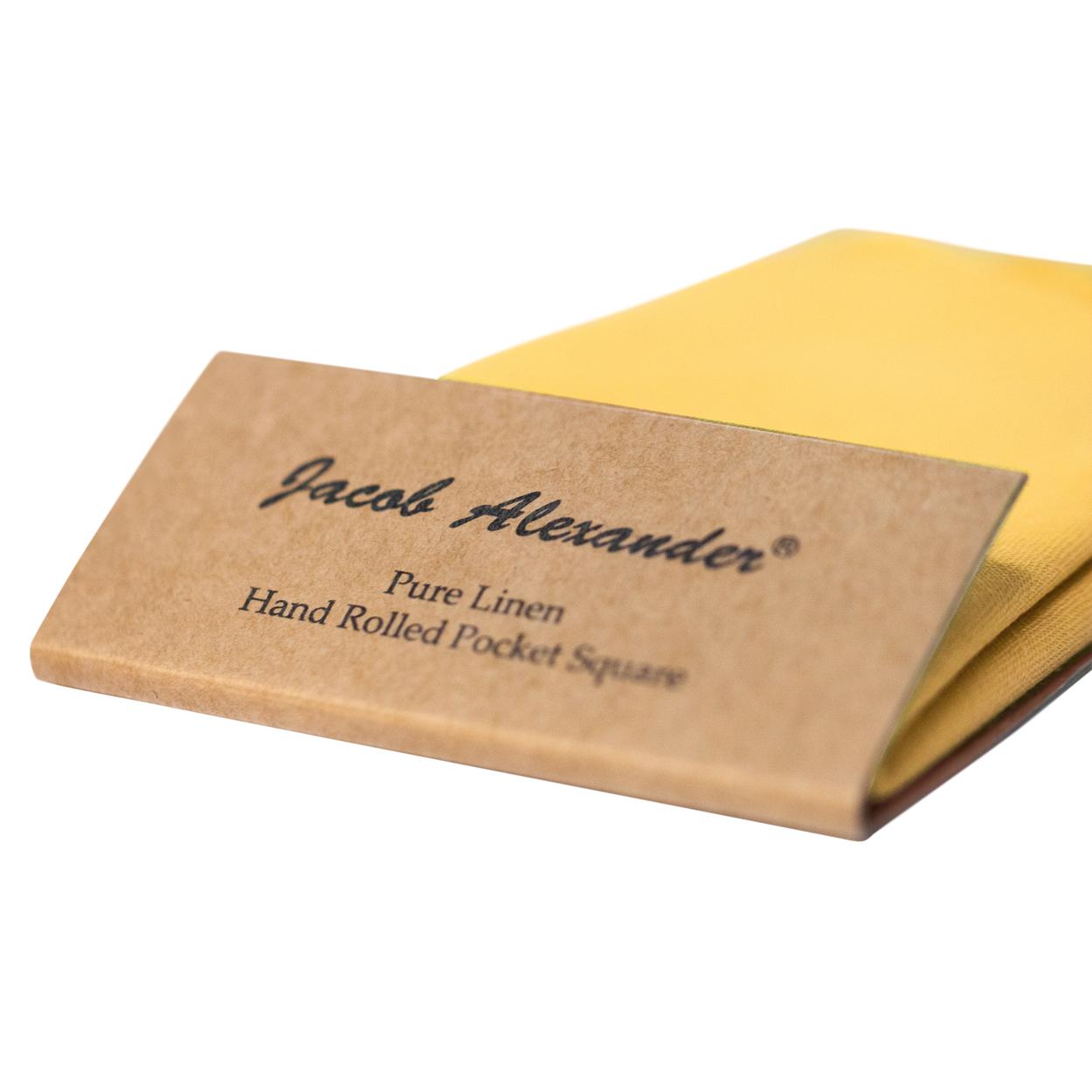 Jacob-Alexander-Linen-Handrolled-15-034-x-15-034-Pocket-Square-Hanky thumbnail 12