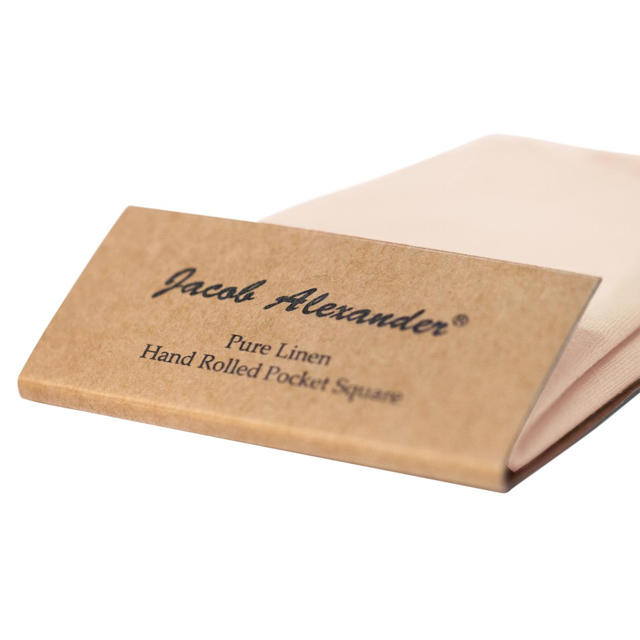 Jacob-Alexander-Linen-Handrolled-15-034-x-15-034-Pocket-Square-Hanky thumbnail 20