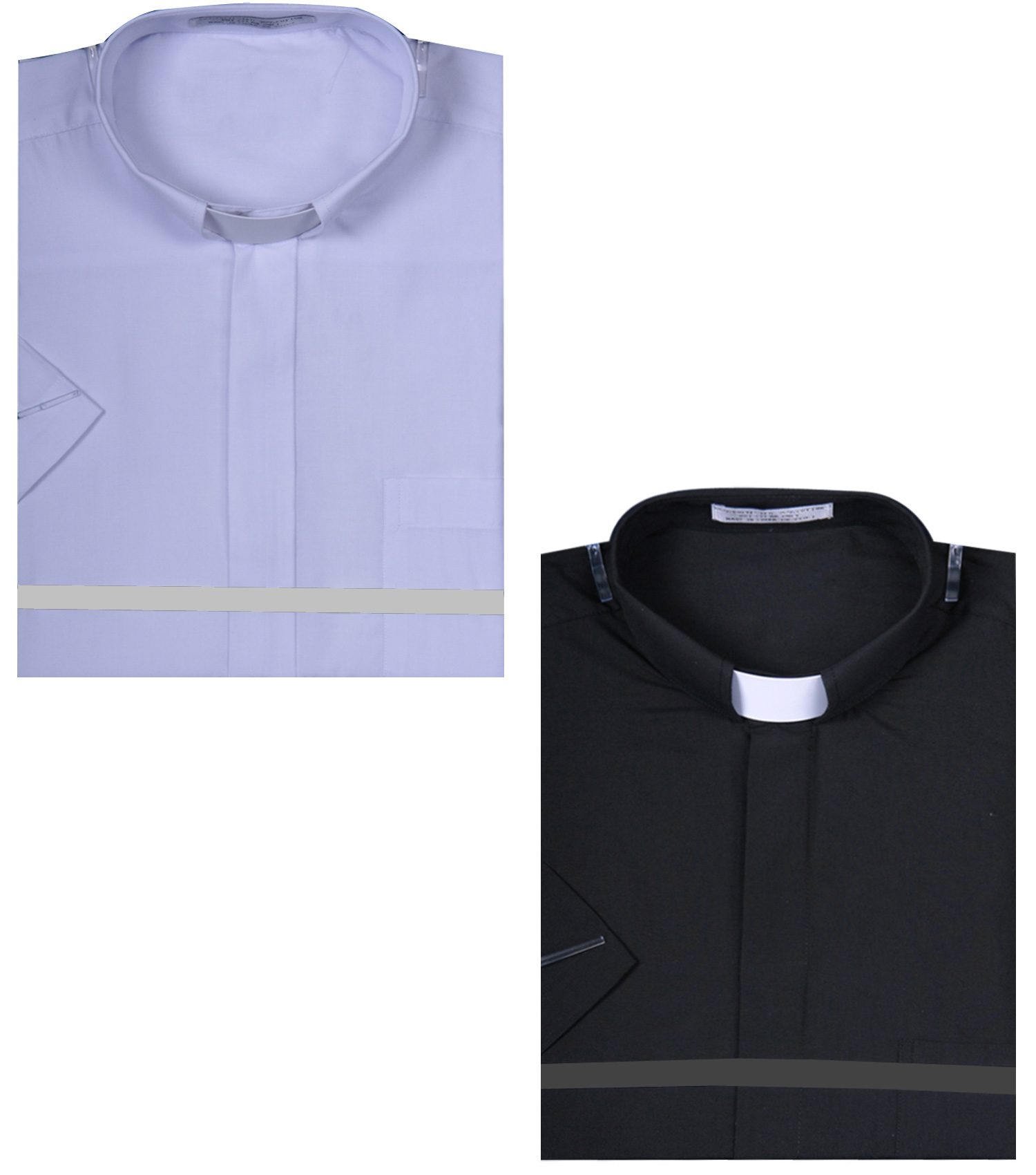 Mens Short Sleeve Solid Color Tab Collar Clergy Shirt Ebay