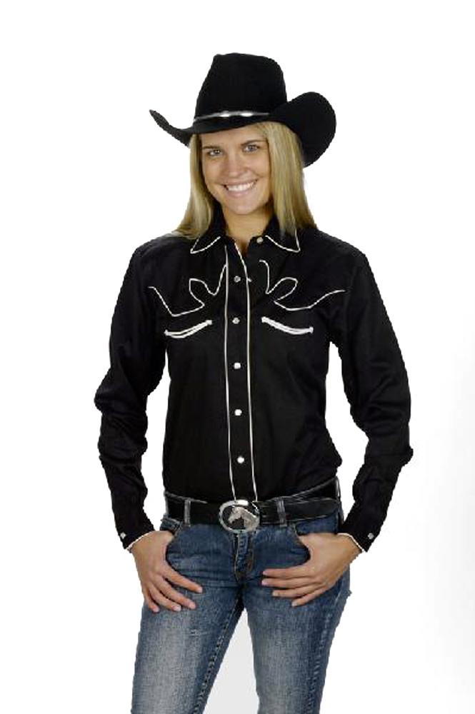 0a862244 Details about Women's Cotton Retro Western Cowboy Shirt